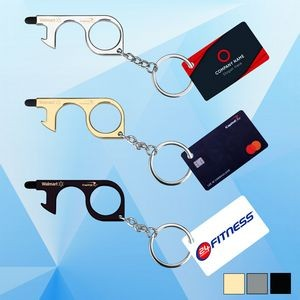 PPE No-Touch Door/Bottle Opener w/ Card Key Chain